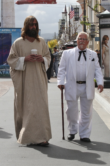 EXCL jesus and the colonel sanders 210410