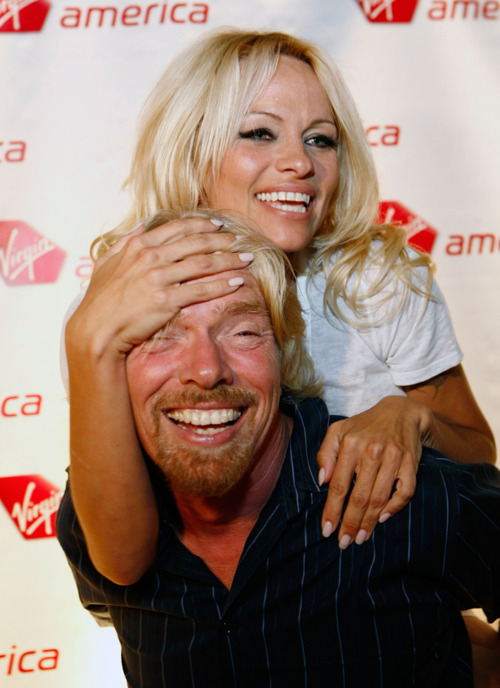 Richard Branson Celebrates Virgin Airlines Inaugural Flight To Vegas