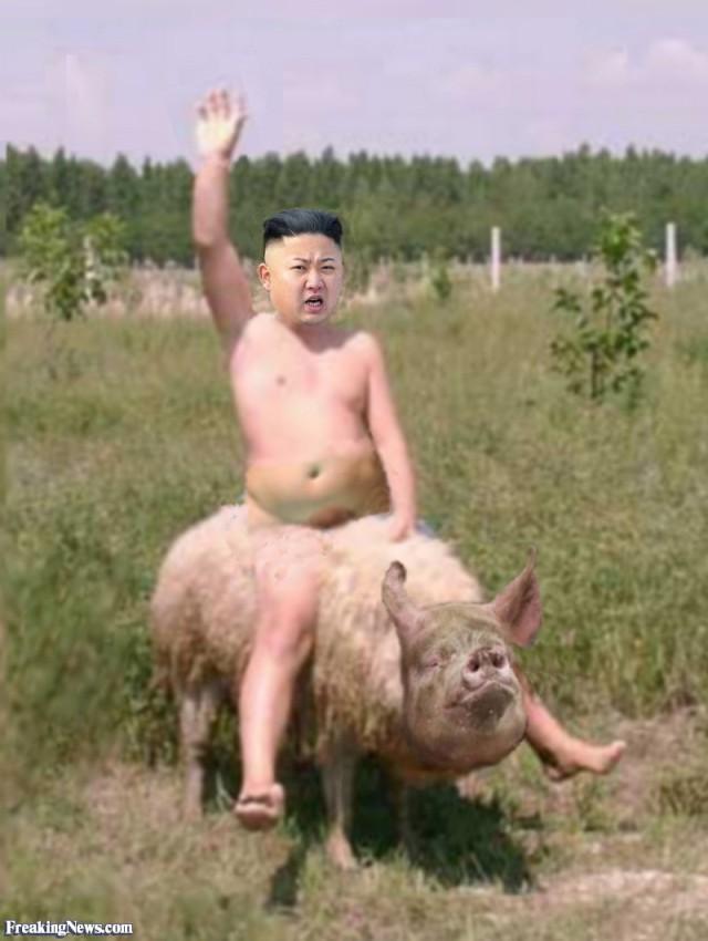 Kim-Jong-Un-Riding-a-Pig--108713