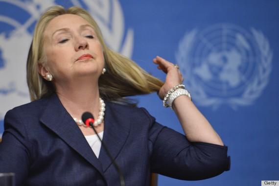 US Secretary of State Hillary Clinton ge